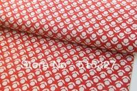 50cm*110cm KOKKA DIY Pachwork Fabric Linen Fabric Flower Stamped   Japanese Import Fabric Red