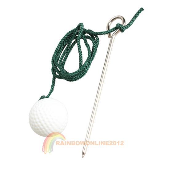 R1B1 1pcs Sport Golf Plastic Practise Ball Trainning Balls with Steel Rope(China (Mainland))