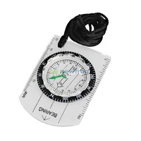 All in One Outdoor Hiking Camping Baseplate Compass MM INCH Map Ruler S7NF