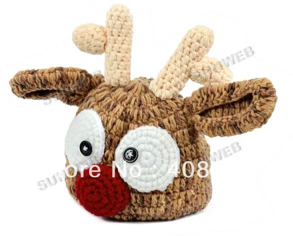 Crochet Baby Deer Pattern : Baby Deer Crochet Hat Pattern