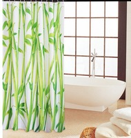 Bamboo Polyester Shower Curtain Waterproof material 180x180cm freeshipping