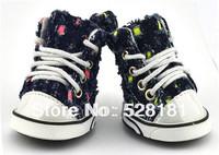 Free shipping! Cowboy pet shoes, fashion hole