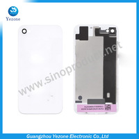 Free Shipping Glass Back Cover For iPhone 4 4S White Battery Door Housing Wholesale Replacement Repair Parts High Quality
