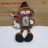 "13"" Sitting Snowman Christmas Gifts for Children Santa Tree Decor Cloth Dolls for Xmas"