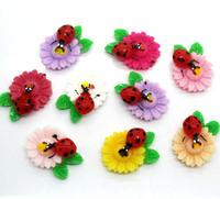 50Pcs Mixed Resin Beetles Flower Flatback Cabochon Scrapbooking Craft 26x20mm