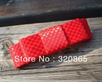free shipping hot selling Choking hot pepper mouth with mei red bowknot cute top hair clip 50pcs/lot