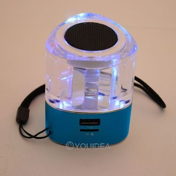 Multimedia  USB LCD MP3 Music Speaker FM TF Card Player Speaker  for MP3 Blue 82074