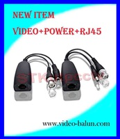 NEW PRODUCTS & Free shipping  1 channel passive video balun, Transmit distance VIDEO :300M POWER: 200M
