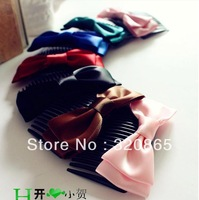 free shipping hot selling Summer hot comb hair bowknot ribbon/insert/hair comb/dish hair hair fork 50pcs/lot