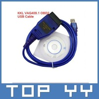 2014 best quality VAG 409 USB COM, vag 409.1 usb kkl interface , vag409 usb cable FAST free shipping