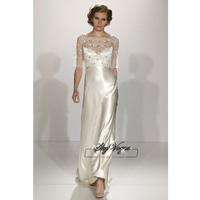 13W022 Ruched Satin A-Line Spaghetti Brush Train Gorgeous Luxury Unique Brilliant Bridal Wedding Dress Free Shipping