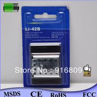 Original 1:1 with retail package Li-42B Li 42B Digital Camera Battery for Olympus Camcorder 7010 7020 20pcs/lot free shipping