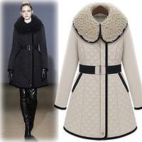 Free shipping !big brand style Fashion elegant black-and-white outerwear slim winter wadded  cotton-padded women's jacket