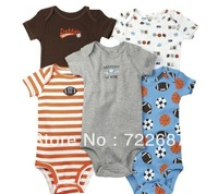 5 pcs/lot 3~24M/Can choose sizes Carter's Wiggle-in Bodysuit Short Sleeve Infant Romper Girl& Boys jumpsuit Free shipping