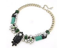 Fashion Luxurious Flower Necklace CN056 Gorgeous Chunky Nacklace Statement Necklace Free shipping Min. is $15 (mixed order)