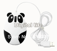 *Cute Wired USB 3D Panda Shape Optical Mouse Mice for PC/Laptop Notebook Desktop 12189
