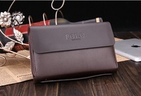 2014 Fashion Polo Genuine PU Leather Clutch Bags High Quality Business Bag Men Wallet  Handbags Luxury Evening bag Free Shipping