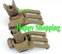 KAC 45 Degree Offset Rail Mounted Micro Folding Sights Sand