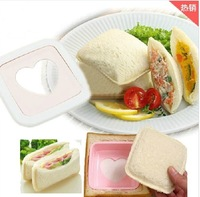 Free Shipping 50pcs/lot The Square love heart Sandwich Mold toast Maker Bread Mold DIY Mould Cute