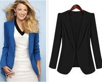 Free shipping autumn&winter new arrive slim style double collar long-sleeve blazer women plus size jacket 1667