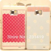 Free shipping 2model desirable small fresh roseblue/pink  dot  mobile phone case for SAMSUNG   i9100 phone case
