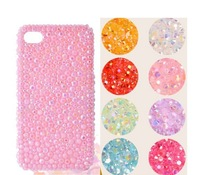 Jelly ab drill mobile phone decoration stiker beauty for phone case diamond resin material diy kit wholesale 1000pcs/lot 2013