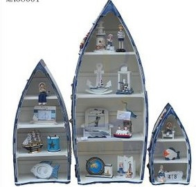 Storage boat cabinet bookshelf vase holder magazine rack