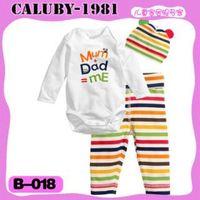 """2014 New Style Christmas Baby Pajamas 3 PCS T-Shirt/Pants/Hat 100%  Cotton Homewear Wholesale  PJ30810-73"""