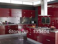 Modern Red UV Kitchen Cabinet (AGK-033)