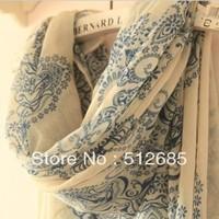 {Min.Order $15} 2013  Lady Fashion Soft  Polyester Bohemia  Print Elegant Long Scarf   Shawl  Decoration Use For Air condition