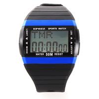 Relojes de caucho con piedra reloj doble tiempo contra agua con fechador alarma cronometro dia men's sports watches alarm 1301