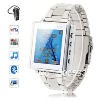 Free shipping 1.44'' watch phone AK812A,stainless steel watchband wrist watch mobile phone,Bluetooth MP3 MP4 ebook recorder