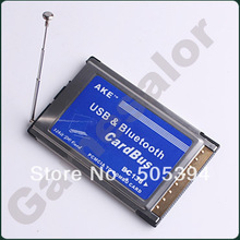 FREE SHIPPING PCMCIA USB Bluetooth COMBO Cardbus Adapter Laptop #9767(China (Mainland))