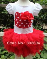 Retail / cartoon printed cotton dress girl dress high quality free shipping AB102