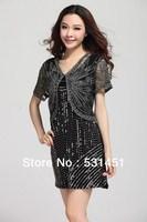 2013 new women's short sleeve small European and American original single lace shawl small waistcoat jacket dark button