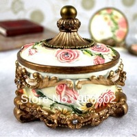 Resin jewelry box fashion royal princess jewelry box jewelry box small delicate storage box