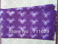 FREE SHIPPING african lace+swiss  voile lace high quality Wedding lace purple color good for occasion moves well in usa market