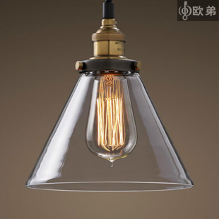 American style pendant light antique copper lamp holder pendant light glass pendant light restaurant lamp bar lighting