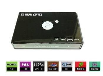 "Free Shipping!Full HD 1920*1080P Multimedia 2.5"" hdd cinema player 3D MKV USB OTG HOST VGA HDMI Media center H.264"