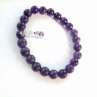 Natural crystal natural amethyst beads bracelet small 8mm Women purple eldless love girlfriend gifts