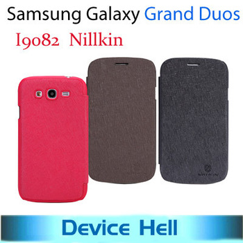 Luxury Nillkin Brand England retro style flip leather case cover for Samsung galaxy grand duos i9082, Free ship+ retail package