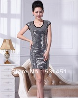 2013 new beaded sequined dress package hip skirt dress skirt dress skirt metal wind