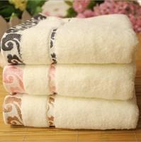 3pcs/lot 34*75cm SuperMarket Wholesale Hot Sale Pure Cotton Face Towel 3 Colors High Quality Soft Towels For Lovers Gifts