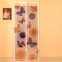 2013 magnetic soft screen door curtain magnetic stripe mosquito screen door freeshipping
