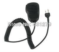 5pcs/lot black 2 Pin Handheld Shoulder Speaker Mic for ICOM IC-F3/F4/F10/F11/F21 IC-W32A IC-T7H/T2H SP100/120 SL25/55 J0318A