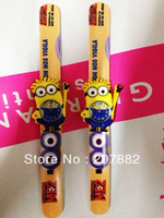 200pcs/lot!The Newest Despicable Me Slap Watch Minion Children Digital Wristwatch Cartoon Silicone Watch A2914 Free Shipping