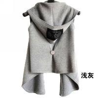 Spring and autumn women's outerwear short design cape fashion cardigan sleeveless plus size denim vest fashion