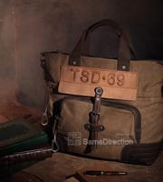 bump color restoring ancient ways canvas bag, leisure bag shoulder strap bag laptop bag mail CS100 men