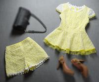 Wholesale&Retail Free Shipping Fashion women's 2013 top quality shorts unique fashionable laciness casual princess set