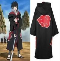 Retail Halloween Cosplay Costome New Anime Costumes Naruto Akatsuki Cosplay Cloak Stand up Collor Naruto Cosplay S M L XL XXL 73